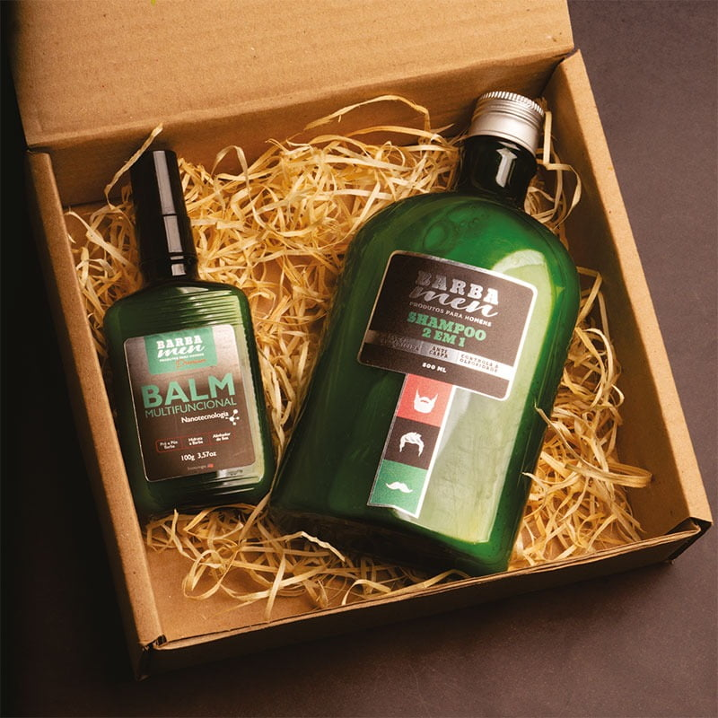Shampoo Anticaspa 2 Em 1 500 ml+ Balm Para Barba - Multifuncional - 100g